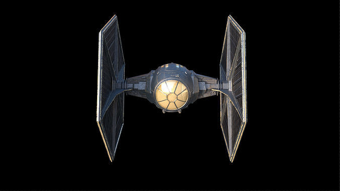 star wars tie fighter 3d model obj mtl fbx ma mb 1