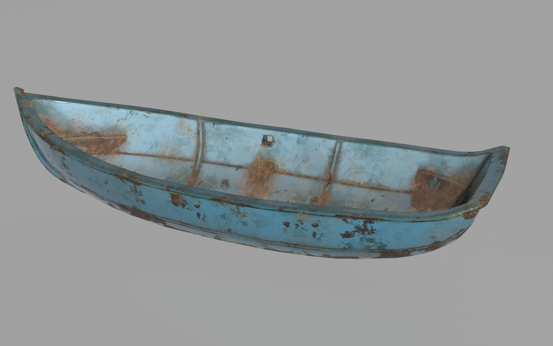 Metal Row Boat