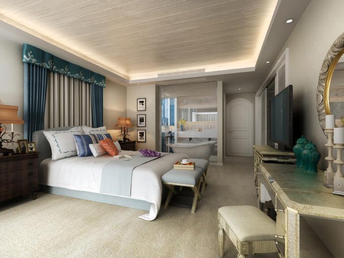 Simple bed room 3d model max for Basic 3d room design