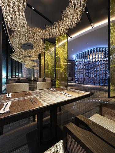 luxury restaurant hall  3d model max 1