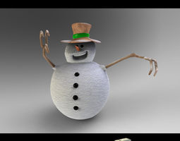 3d snow man 2