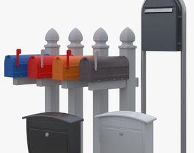3D model Mail box set