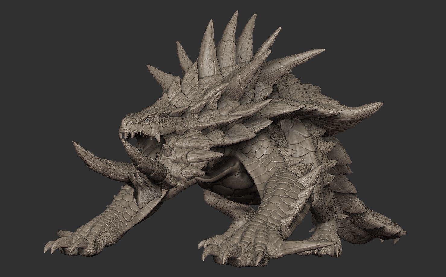 Akantor from Monster Hunter Zbrush Highpoly