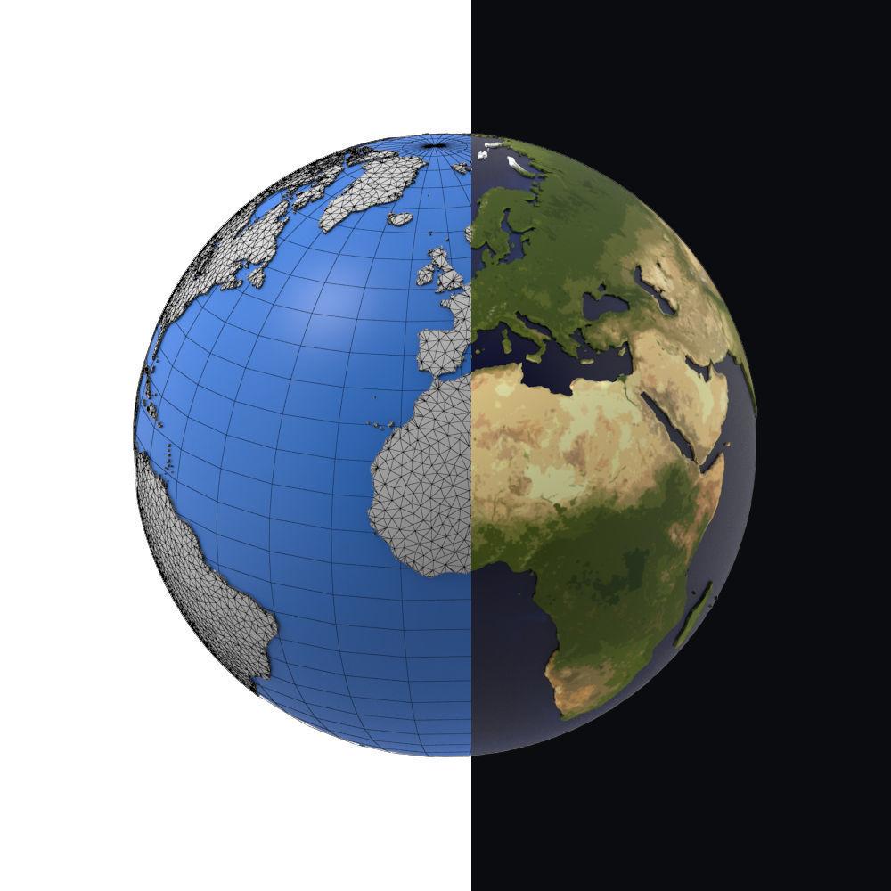 Earth detailed design graphic cartoon