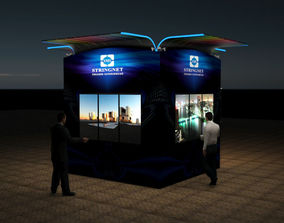 Module for advertising on screens 3D model