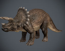 3d triceratops animated