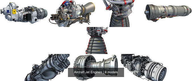 aircraft jet engines 3d model max obj mtl 3ds fbx c4d lwo lw lws 1