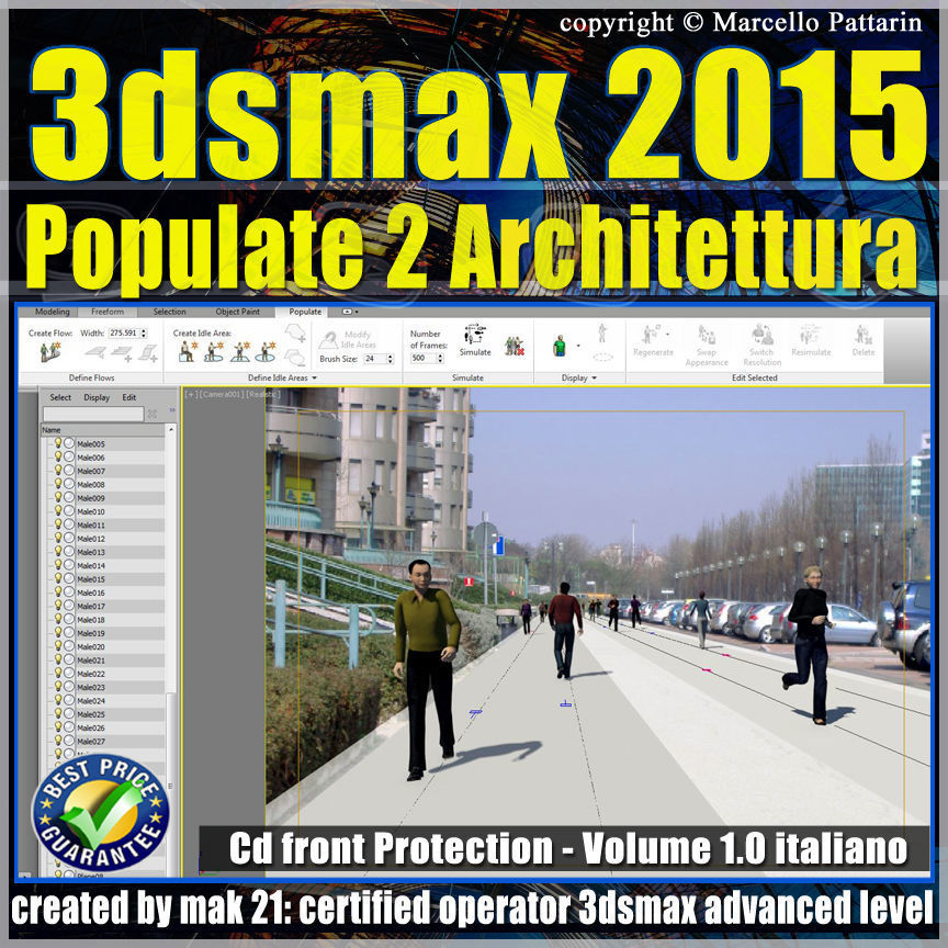 3ds max 2015 Populate 2 Architettura vol 1