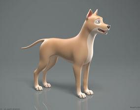Stylized Cartoon Dog 3D model