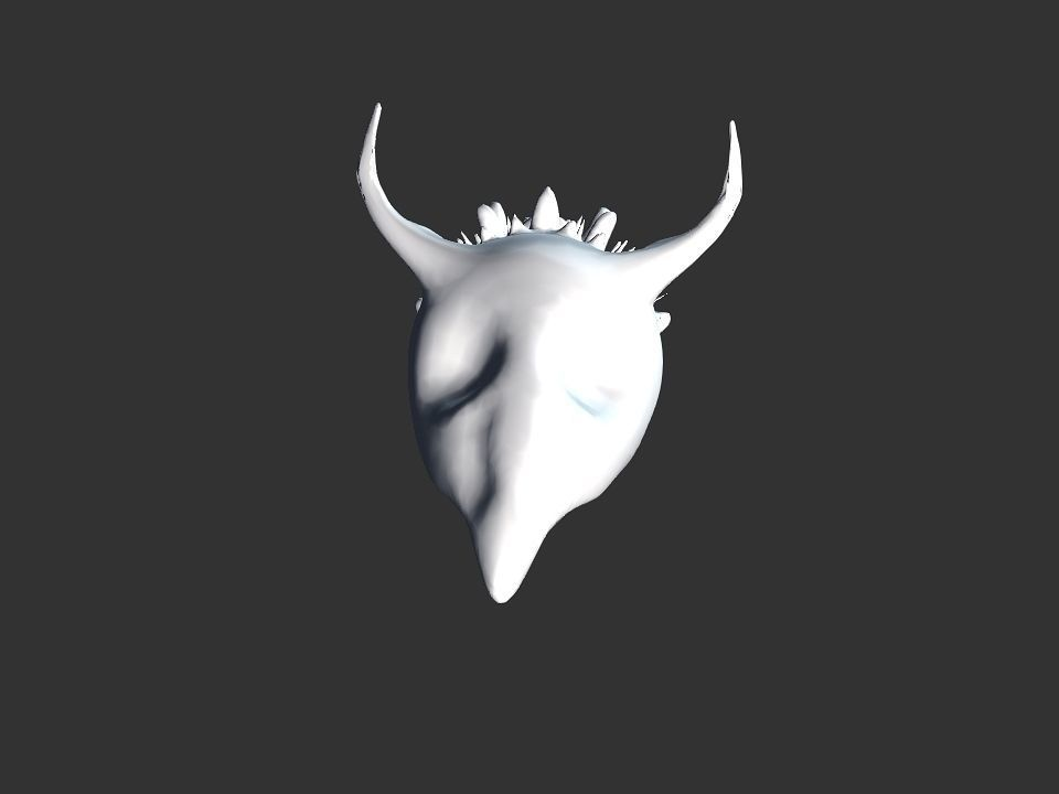 Beak Ox Skull for 3D print