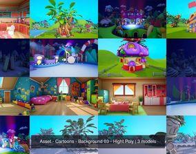 Asset - Cartoons - Background 03 - Hight 3D model