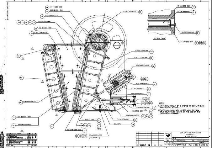 Sandvik CJ613 jaw crusher complete drawing | 3D model on