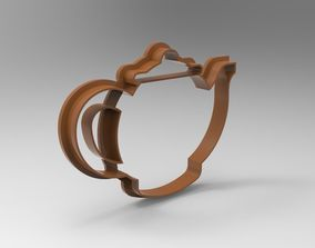 3D printable model teapot cookie cutter