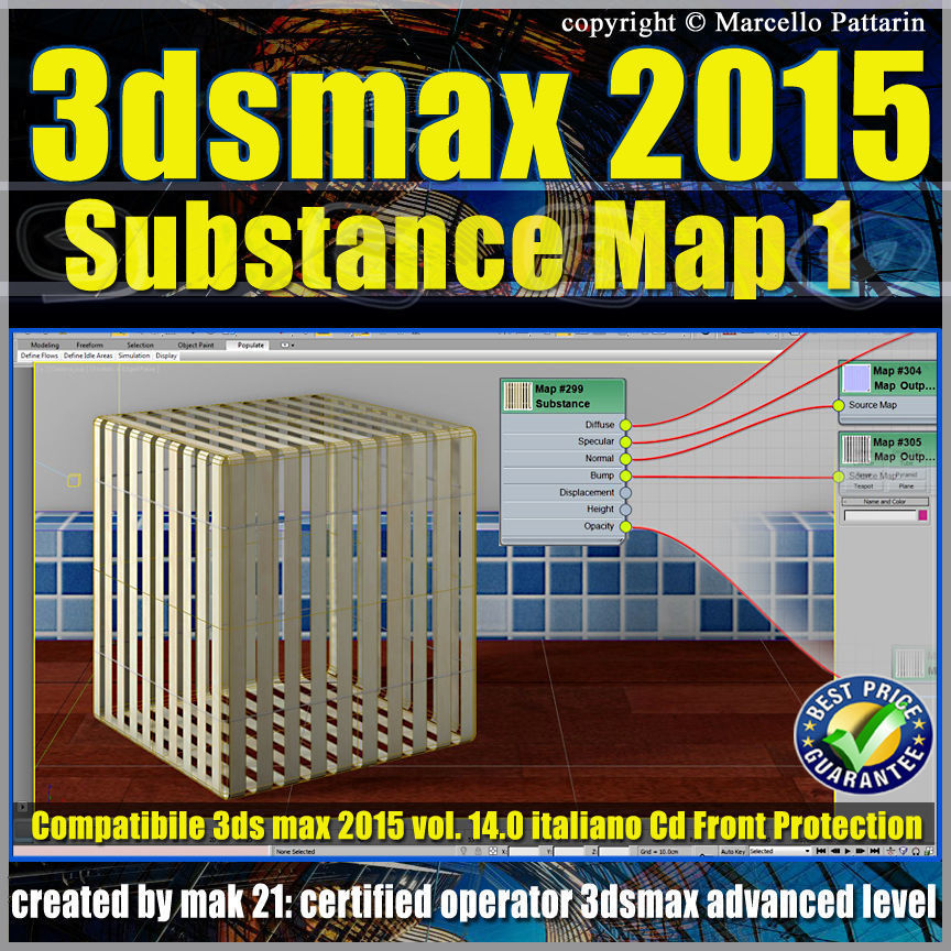 3ds max 2015 Substance Map volume 14 Italiano  cd front