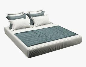 3D model Photorealistic Bed set 012