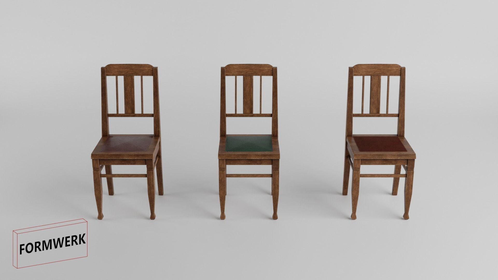 historic furniture Set 01 - 3D Low Poly