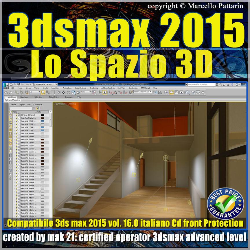 3ds max 2015 Lo Spazio 3D volume 16 Italiano cd front