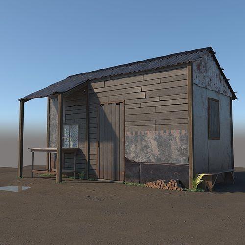 3d wooden shed model 3d model max obj mtl 3ds fbx 1
