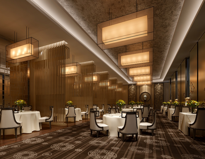 Wall Designs For Banquet Hall : Modern banquet hall at the restaurant d model max
