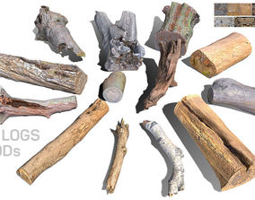 13 Tree Logs 3D asset