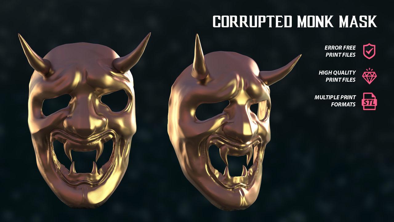 Corrupted Monk Mask Sekiro Fan Art