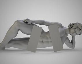 Woman Lying On Side 3D printable model