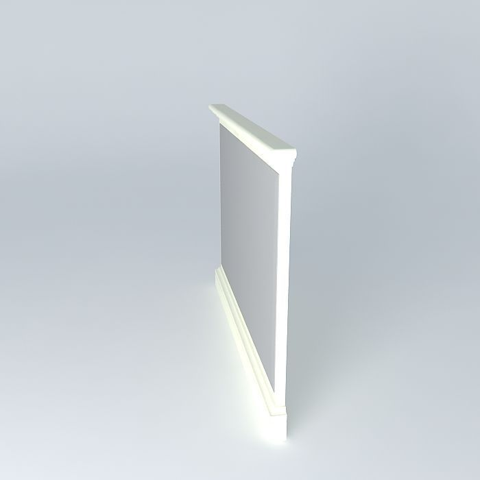 Mirror free 3d model max obj 3ds fbx stl dae for Mirror in sketchup