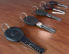 Realistic Door Key Lowpoly with a set of 5 PBR 3D asset
