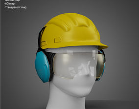 Builder Helmet - Low Poly model VR / AR ready