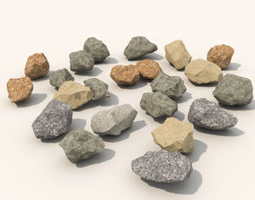 3D model Stone and debris pack