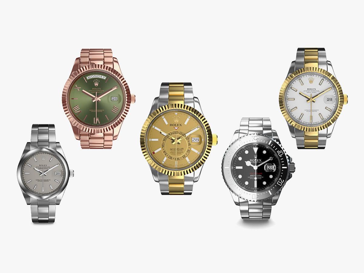 5 Rolex Luxury Watches Collection