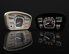 3D model car dashboard ZAZ-Yalta 1961-1969