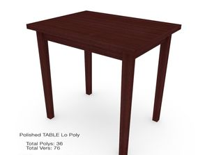Table polished 3D model