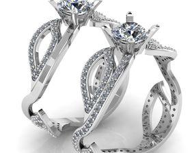 Female Diamond Leaf Ring 3D printable model