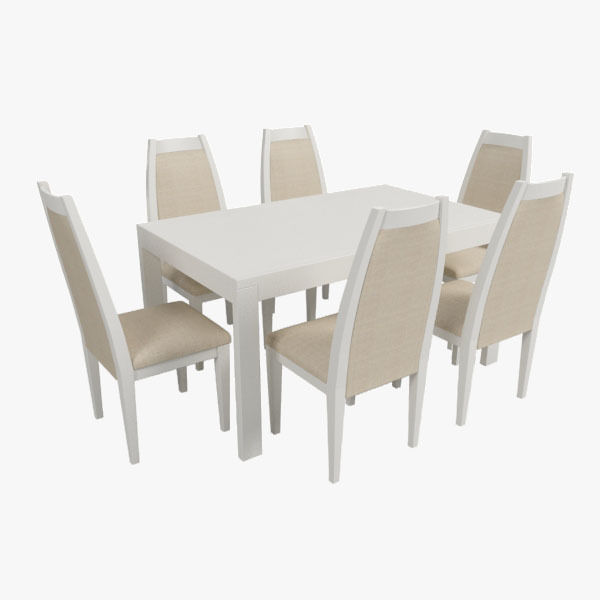 Modern Dining Table With Chairs Free 3D Model