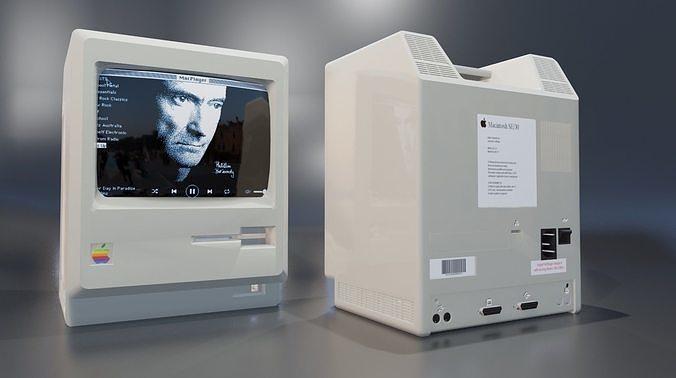 apple macintosh 1984 classic computer 3d model obj mtl fbx stl blend dae abc 1