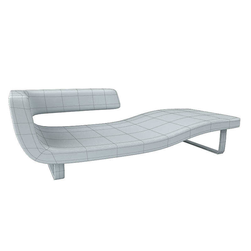 Sofa 5 chaise longue divan 3d model max obj 3ds for Sofa 1 plaza chaise longue