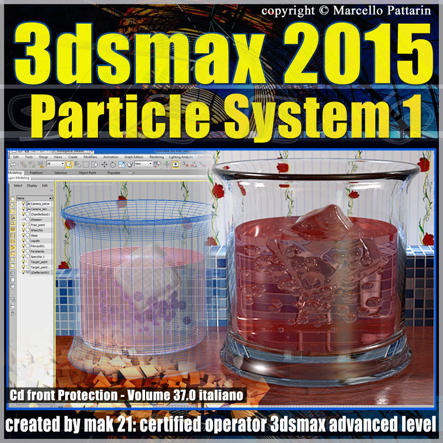 3ds max 2015 Particle System 1 vol 37 cd front