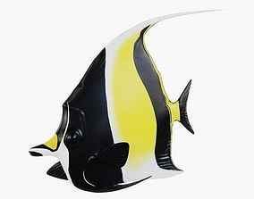 3D model Moorish Idol Fish Animated