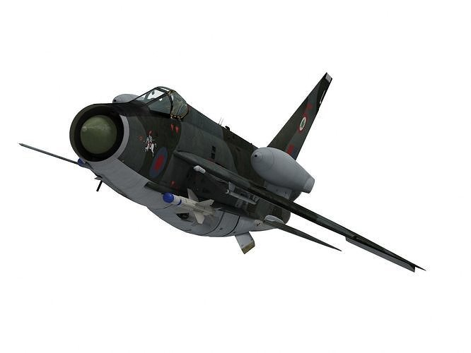 english electric lightning f6 3d model max obj mtl fbx 1