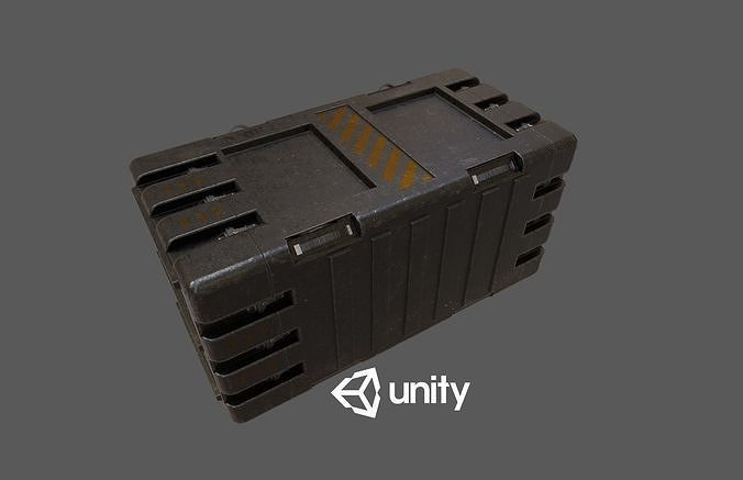 sci-fi crete 3d model low-poly max obj mtl fbx unitypackage prefab 1