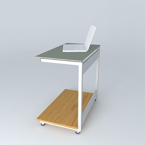 computer table free 3d model max obj 3ds fbx stl dae