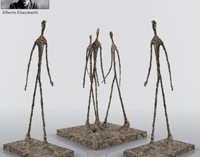 Walking Man Sculpture By Alberto Giacometti 3D model