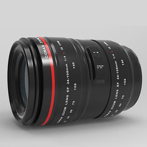 zoom 24-105mm 3d model obj mtl 3ds fbx c4d dxf 1