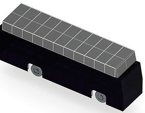3D model Solar powered Bus