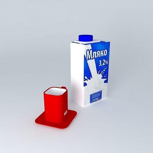 milk 3d model max obj 3ds fbx stl dae 1