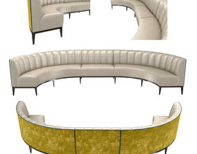 Sofa and chair company bespoke rounded sofa 3d model
