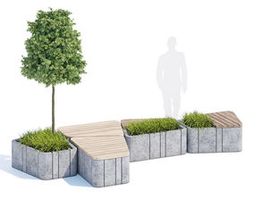 Timber seats and benches 3D