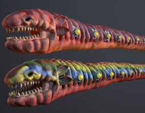 3D model Sharkworm From Outer Space