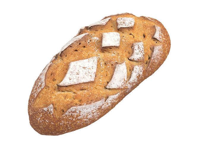 photorealistic bread 3d scan 3 3d model obj mtl fbx c4d 1